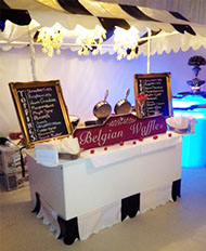 Belgian Waffles Stand hire for Events