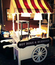 Hot Dogs and Burgers Cart at Event - Fruits & Fountains