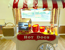 Hot Dogs Cart hire in London from Fruits & Fountains