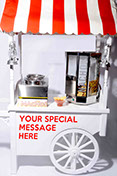 "Personalised Nachos Cart with ""your own message"" for hire"