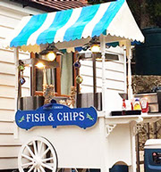 Traditional Fish & Chips Cart on hire at Event