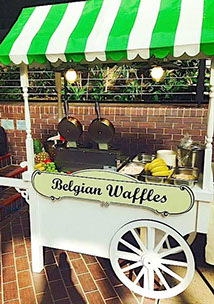 Belgian Waffles Cart - Bartmitzvah - Barbican London May 2014